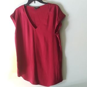 Maroon cap sleeve blouse